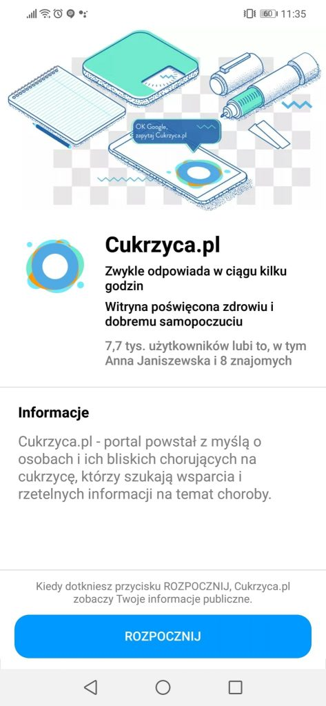 cukrzyca.pl na messengerze asystent cukrzycy