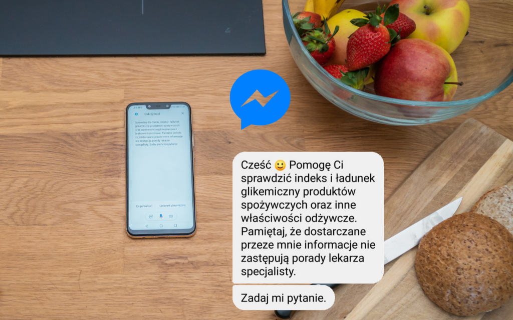 cukrzyca na messengerze asystent cukrzyca.pl messenger
