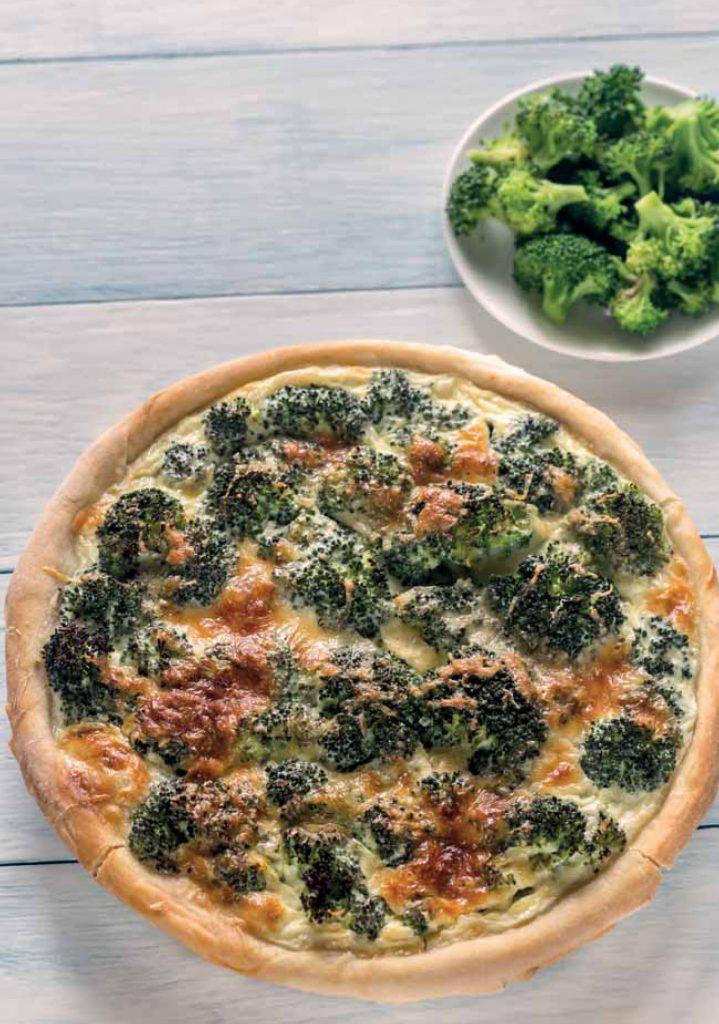 tarta z brokułami wypieki dla diabetyków