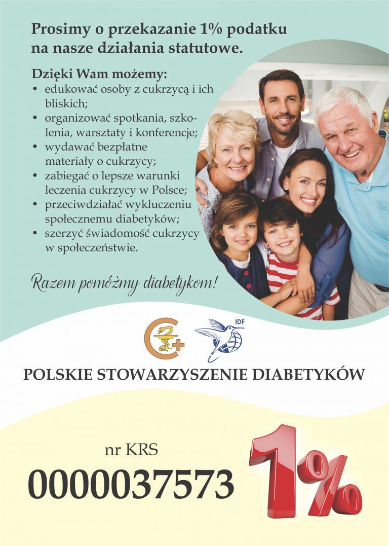 1 procent 2020 A5 bcs polskie stowarzyszenie diabetyków